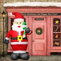 2.4m Santa Claus Inflatable Toy Outdoors Christmas Decor Yard Arch Ornament Xmas