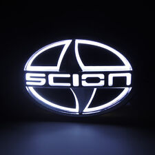 White 5D LED Car Tail Rear Logo Light Badge Lamp Emblem For Scion 12.5CMX8.5CM