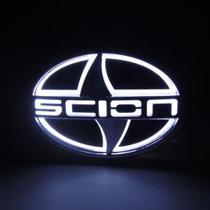 White 5D LED Car Tail Rear Logo Light Badge Lamp Emblem For Scion 12.5CMX8.5CM