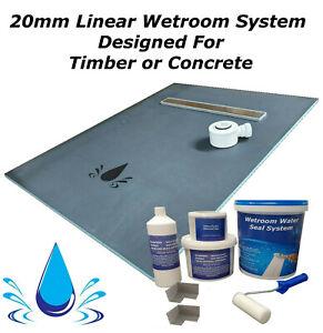 Wet room & wetroom kit Linear 20mm shower tray & Tanking kit  (WSK)