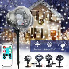 Snowfall LED Light Snowflake Projector Lamp for Christmas Indoor Outdoor Decor