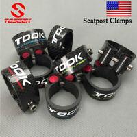 TOSEEK 30.2/34.9mm Seat Post Clamp Bike Carbon Fiber Lock Seatpost Tube Clamps