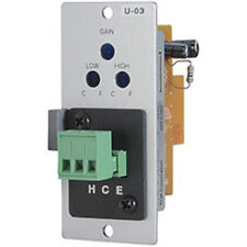 NEW TOA U-03S Unbalanced Line Input Module for 900 Series Mixer/Amps U03S