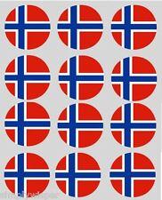 12 Norwegian Flag Cupcake Toppers Ricepaper Norway Cake Decorations pre-cut