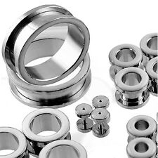 Wholesale Package 64pcs Stainless Steel Flesh Tunnel with White Epoxy Overlay