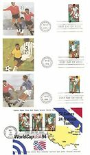 US SC # 2834-2835-2836-2837 World Cup Soccer FDC.4 Covers Set . Fleetwood cachet