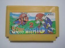 Sonic 2 Mario  - MEGA RARE Famicom Famiclone Nes Cartridge