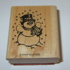 Snowman Stampin' Up! Rubber Stamp Carrot Nose Top Hat Scarf New Retired Rare