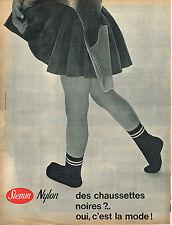 PUBLICITE ADVERTISING 025  1961  STEM  chaussettes nylon enfants