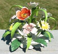 Vtg Metal Steel Flower Pot Top Arrangement Welded Steel Hand Painted Italy Made