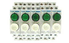 5x Hager SV 071 sonda con luz verde sv071 572071 250v ~ 16a resolución de inventario