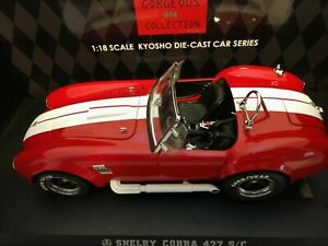 1:18 1965 Shelby Cobra 427S/C sports car racing red Kyosho diecast 8 in long box