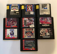 Sega Genesis 10 Sports Game Lot - Tested - Free Shipping (USA)