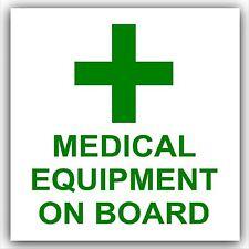 Medical Equipment On Board-Car,Ambulance,External Sticker,Sign,First Aid,Medic