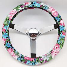 Handmade Steering Wheel Cover Country Flower Garden