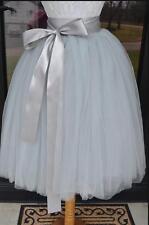 A-Line 7 Layer Midi Tulle Skirt American Apparel Tutu Skirts Womens Pettico
