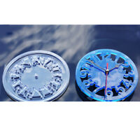 Cement Concrete Silicone Mold DIY Round Clock Resin Clay Plaster Mould Tool