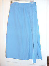 VINTAGE CHARISMA AQUA COTTON POLY WRAP SKIRT W/POCKETS SIZE 8
