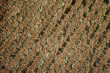 Cheniile   Lace Fabric Apparel Gold Green  Color Stripe  Pattern  Bfab