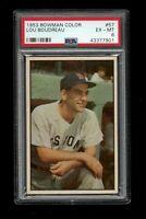 1953 Bowman Color BB Card # 57 Lou Boudreau Boston Red Sox PSA EX-MT 6 !!!