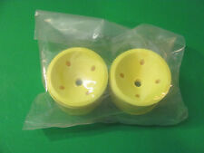 RC Car Wheel Rims. Yellow. New In Package. Set Of Two Rims In Kit.
