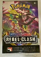 Pokemon TCG Sword and Shield Rebel Clash Build and Battle Box SEALED