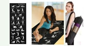 28 Position Exercise Guide Mat Yoga Exercise Fitness  Physio Non Slip- Carry Bag