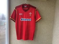 Wales Home Rugby Union Shirt 2016/2017 Jersey L Camiseta Under Armour