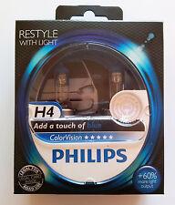 PHILIPS ColorVision BLU H4 12V 60/55W COLORATO EFFETTO 12342CVPBS2 (coppia)