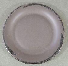 Pfaltzgraff Midnight Sun Black Matte Gloss Swirl Dinner Plate Castle Mark USA