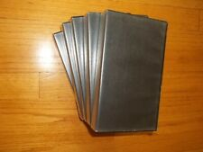 Lot of 10 Pre-owned Black VHS Tape Storage Cases Empty Clamshell W Sleeves