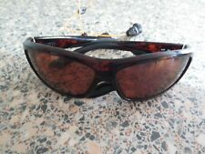 Costa Del Mar brown frame polarized sunglasses. Saltbreak BK 10. With neck strap