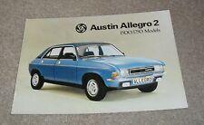 Austin Allegro 2 Brochure 1500 1750 Super Special HL 1976
