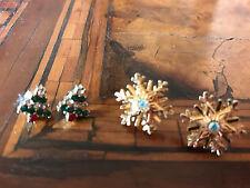 Christmas Tree & Snowflake Earrings Orecchini Albero di Natale & Fiocco di Neve