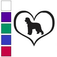 Heart Irish Water Spaniel Dog Decal Sticker Choose Color + Size #1471
