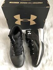 Under Armour Black & White Athletic Sneakers 5Y.