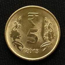 India 5 Rupees.  km399. Asian coin. UNC. 1PCS