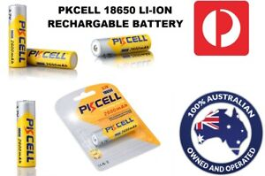 18650 Battery Rechargeable Lithium Genuine 2600mAh Li-ion Batteries 3.7V PKCELL