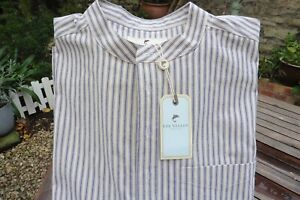 Pinstripe Collarless Shirt (size 5XL) in 100% Cotton by Lee Valley