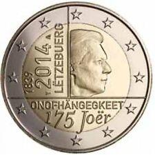 * LOT DE 5 PIECES -- 2 EURO COMMEMO - UNC - LUXEMBOURG 2014 - 175e ANN