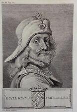 Gravure Antique print GUILLAUME V Comte de Hollande Flipart Count of Holland