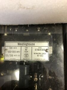 New Westinghouse 671B287A16 Relay Type KF