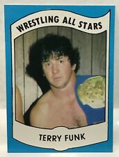 1982 Wrestling All Stars Set Break TERRY FUNK Rookie Card #10 Sharp And Centered
