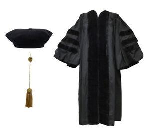 Doctoral Gown, Velvet Tam and Tassel