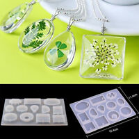Silicone Mold Necklace Pendant Resin Jewelry Making Mould DIY Hand Crafts