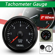 LED Backlight Tachometer Gauge 0-6000 RPM For Auto Diesel Car 52mm Universal