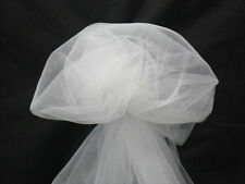 "5 YARDS OF WHITE FABRIC TULLE 54"" WIDE"