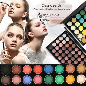40 Colors Eye Shadow Makeup Cosmetic Smoky Shimmer Matte Eyeshadow Palette Set