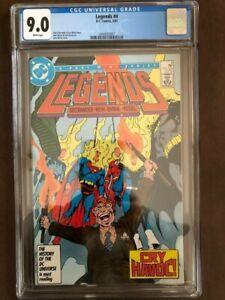 Legends #4, February 1987, DC Comics, CGC Grade 9.0 VF/NM