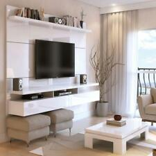 Manhattan Comfort City 2.2 TV Wall Panel Entertainment Center in White Gloss New